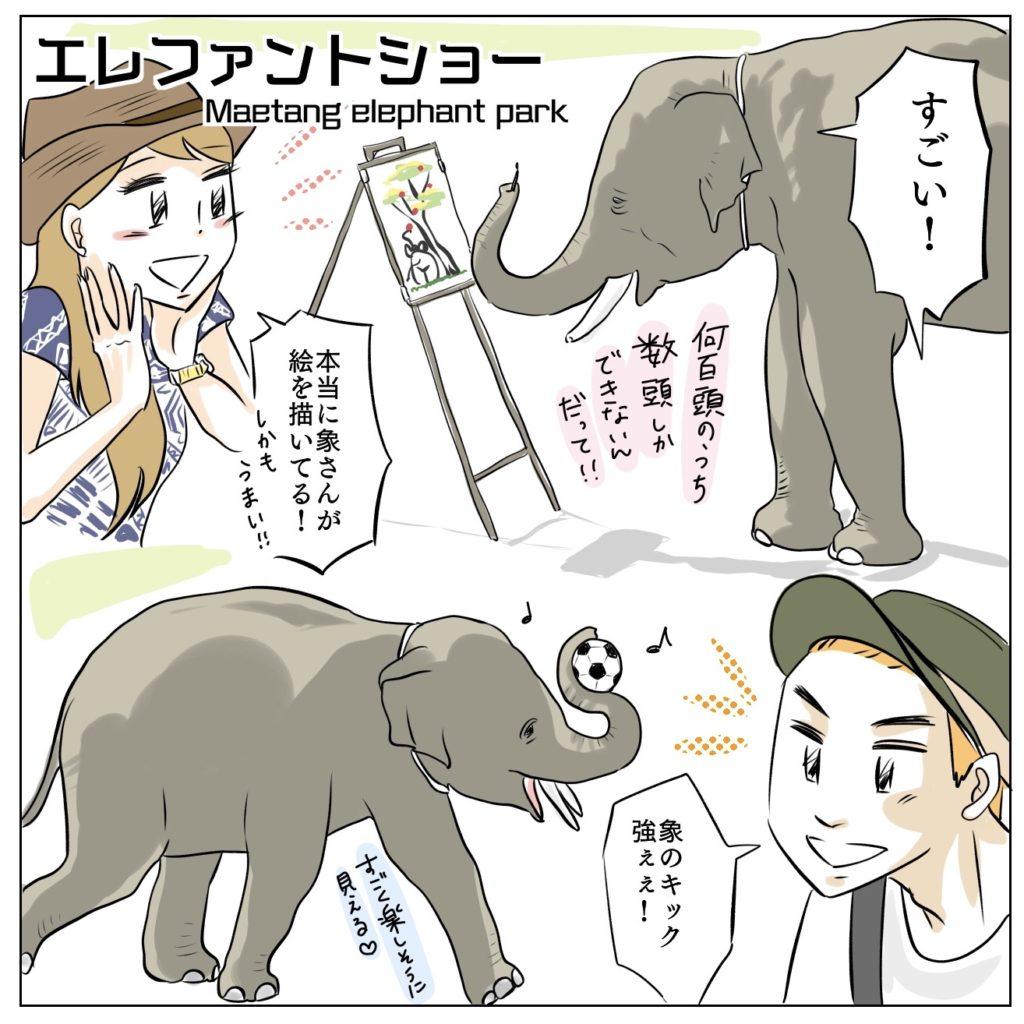 タイ、チェンマイの絵を描く象に会いに。メーターンエレファントパーク